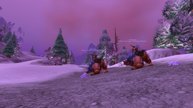 Allen and Daniel on Bear Mounts in WOW