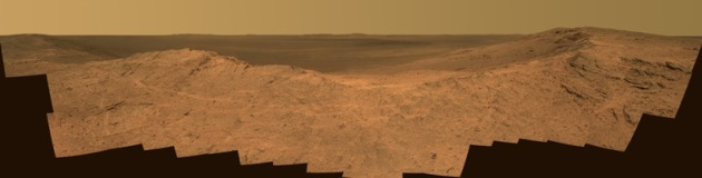 Opportunity overlooking Endeavor Crater – True Color