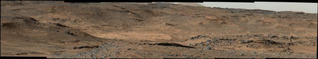 Complete Composite Image From Curiosity at Base of Mount Sharp